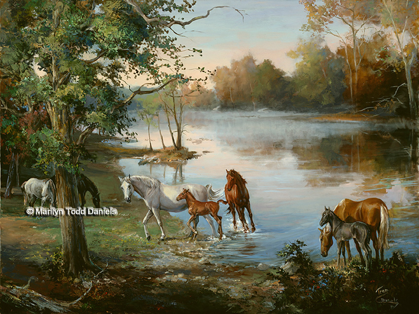 Equine Art and Paintings of Horses | WoodSong Art